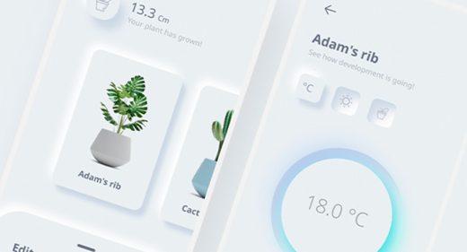 Plant control app Figma concept