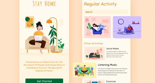 Stay home mobile concept