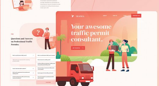 Traffico Figma landing page template