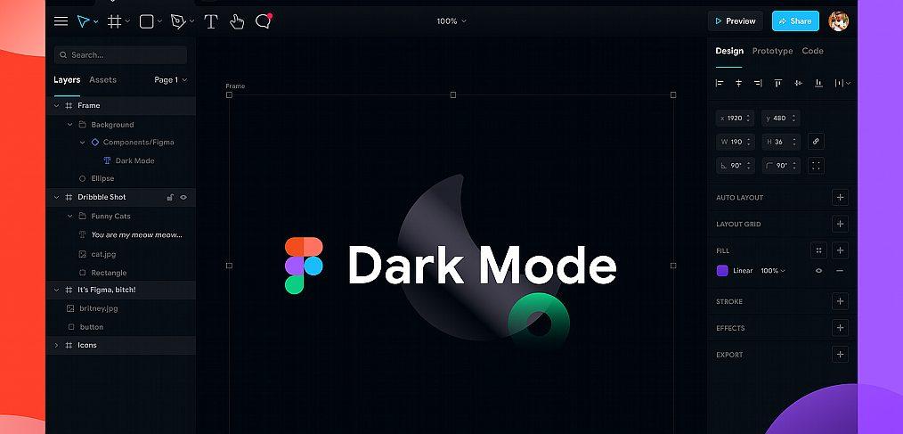 Figma dark mode exploration