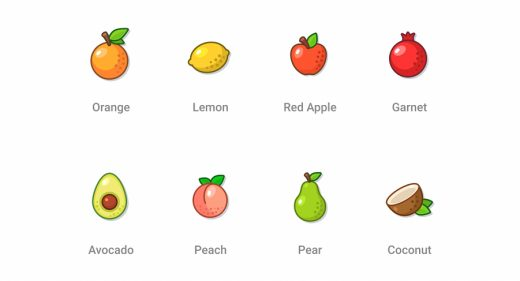 Free Figma fruit icons