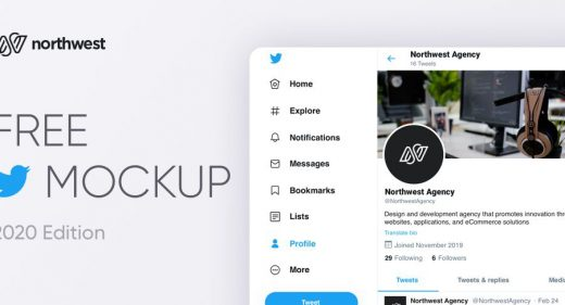 Free Twitter mockup for Figma