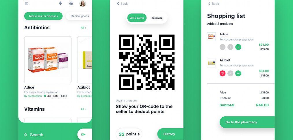 Online Pharmacy mobile template