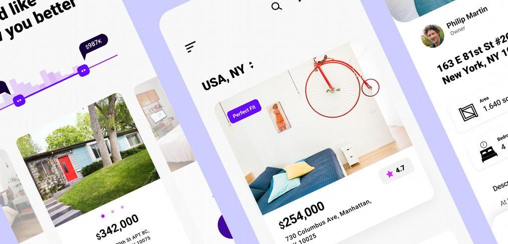 Real estate Figma app template
