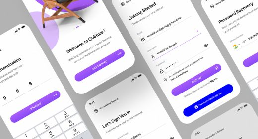 Sign in, sign up Figma mobile screens
