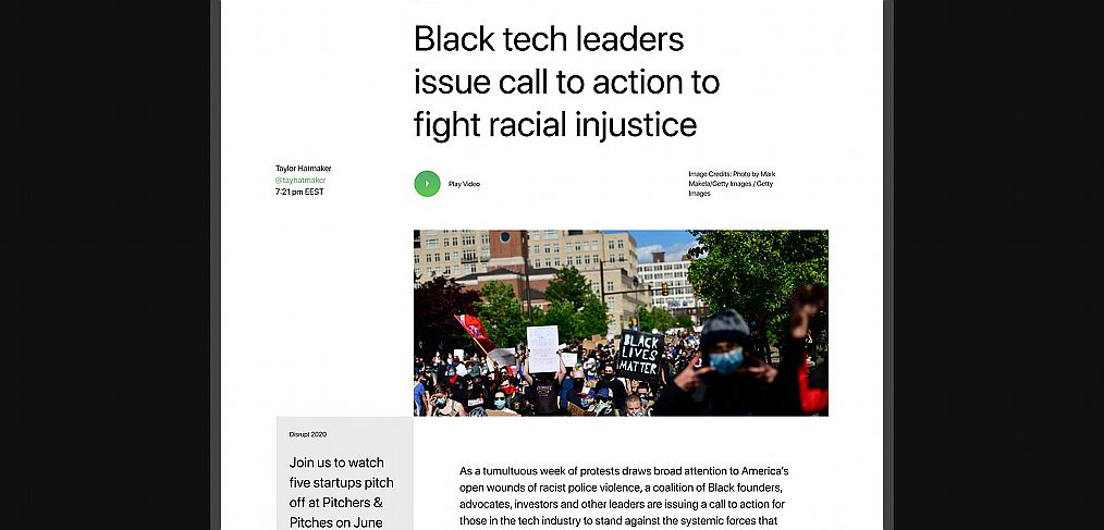 TechCrunch Figma article template