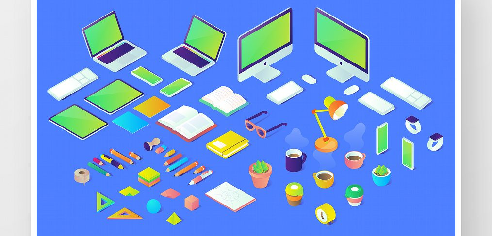 40 Free Isometric Figma illustrations