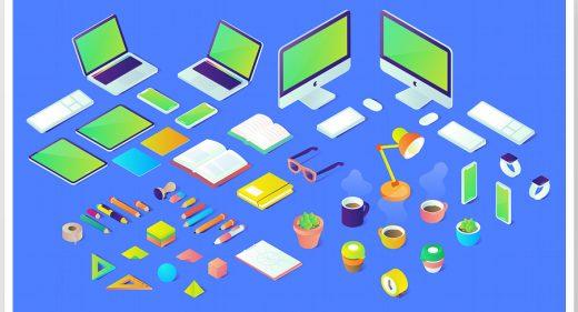 40 Free Isometric Figma illustrations