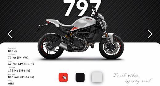 Ducati bike store Figma design