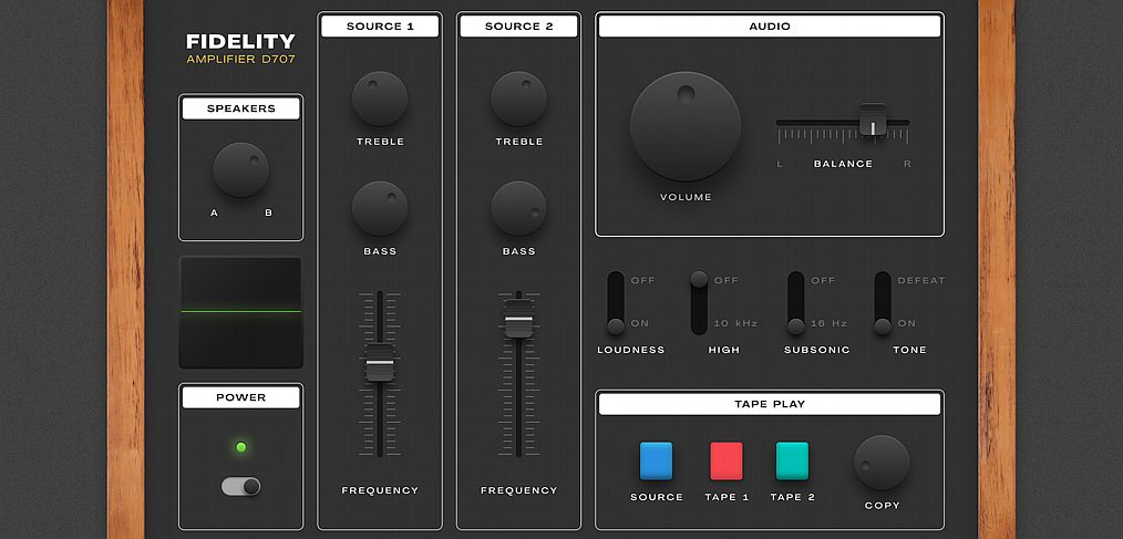 Figma audio controller illustration