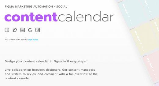 Figma content calendar template