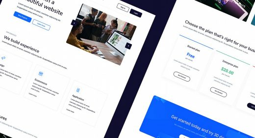 Freehand Figma landing page template
