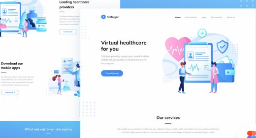 https://dribbble.com/shots/12514026--FIGMA-FREEBIE-Landing-page-for-a-healthcare-startup