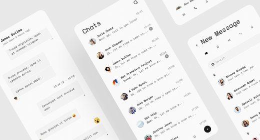 Telegram redesign Figma freebie