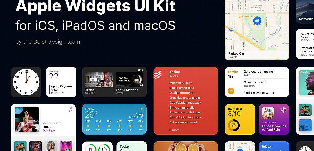 Figma Free Apple Widgets UI Kit
