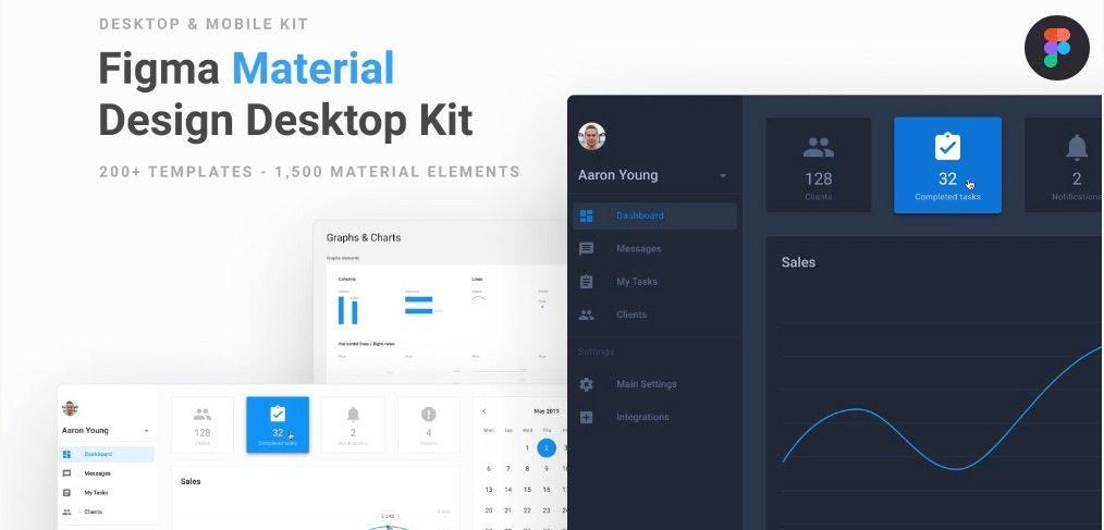Figma premium desktop material UI kit