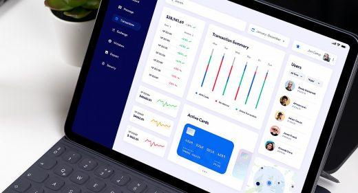 Finance / banking Figma dashboard