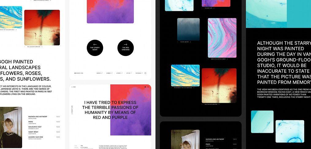 Visual portfolio Figma template