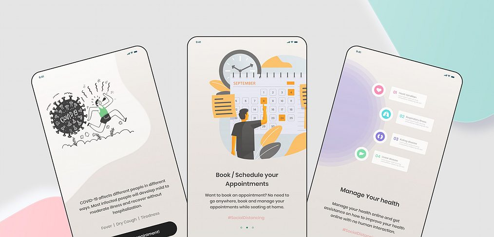Figma doctor appointment onboarding