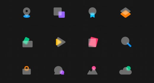 Figma frosted animated icons