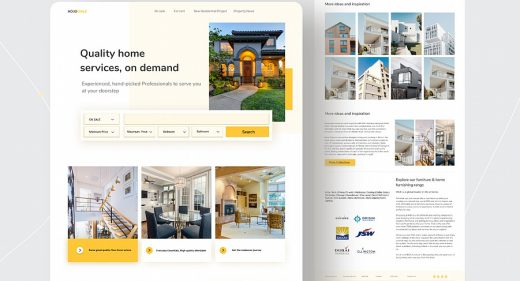 Figma real estate landing page
