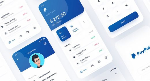 Paypal Figma redesign concept