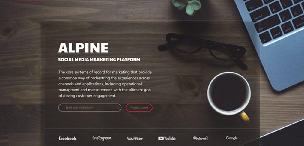 Alpine Figma website concept