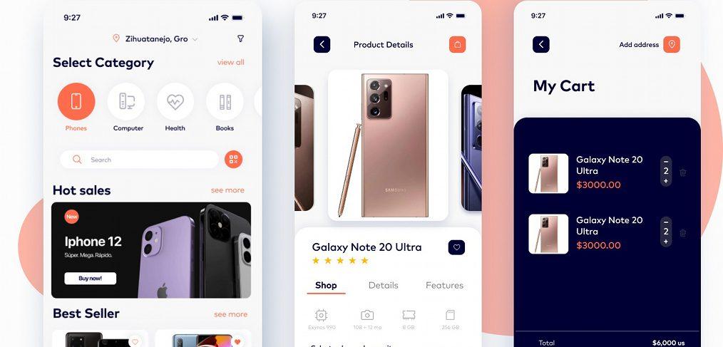 Ecommerce mobile Figma template