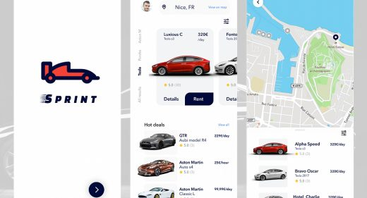 Figma car rental app template