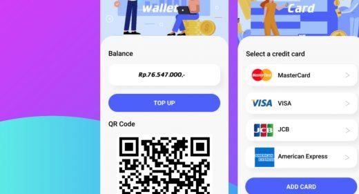 Figma digital wallet mobile concept