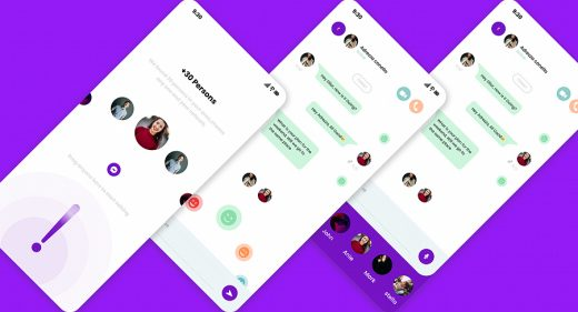 Figma free chat app concept