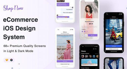 Figma Premium eCommerce iOS design system
