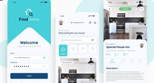 Figma Rental mobile app template