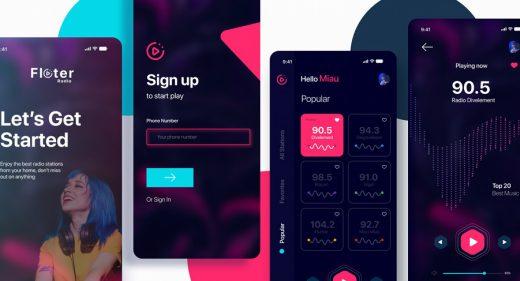 Free Figma radio app template