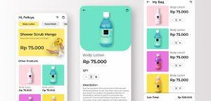 Skincare Figma app template