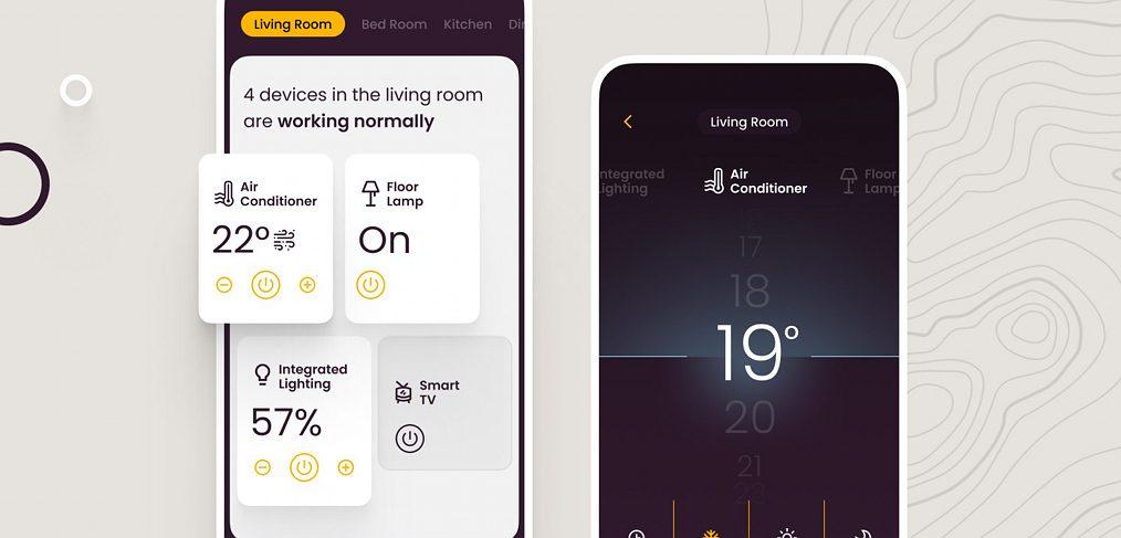 Smart home animated Figma app