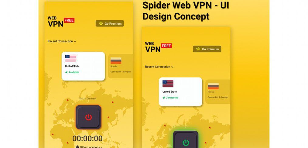 Spider web VPN mobile concept