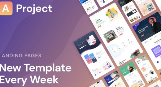 AProject - Figma responsive landing pages