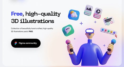 Figma 3D free illustration pack