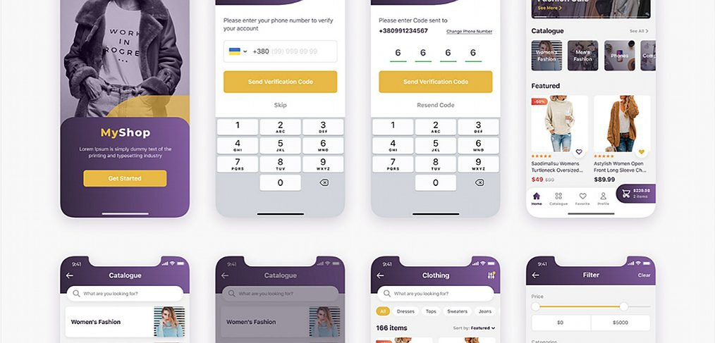 Figma free ecommerce app template