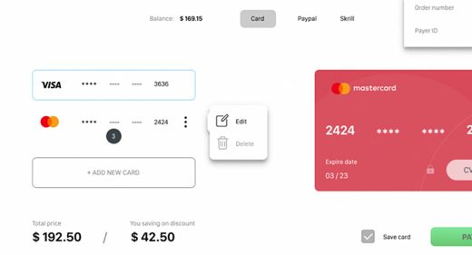 Figma payment page template