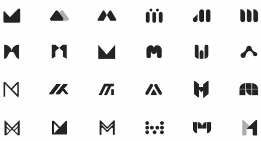 Logo drafts ideas made in Figma