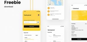 Parcel Delivery App Figma template