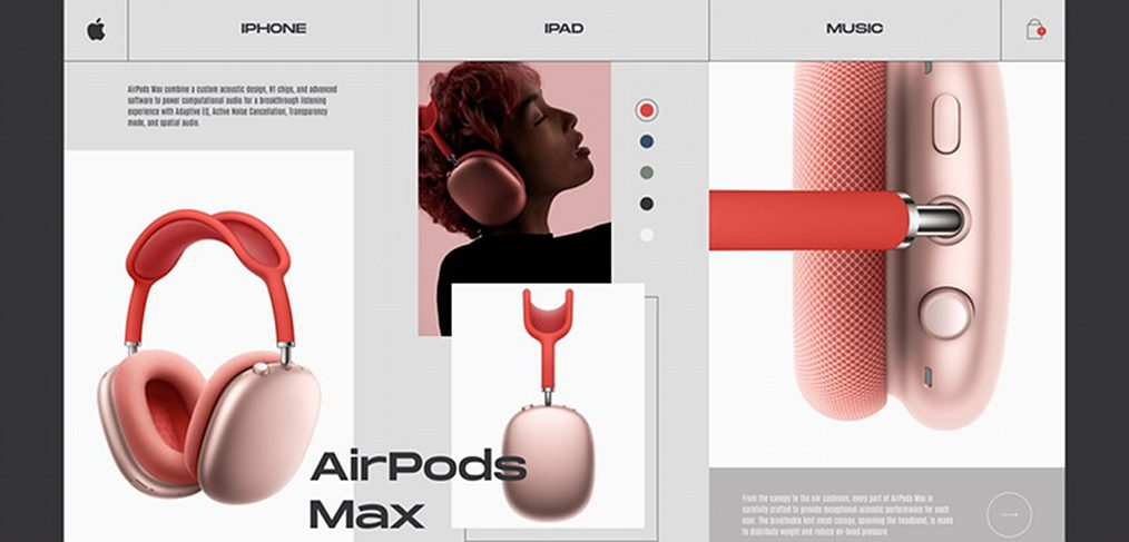 Apple AirPods Max Figma product card