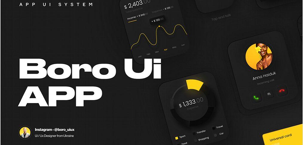 Boro Figma UI kit for Apple Watch