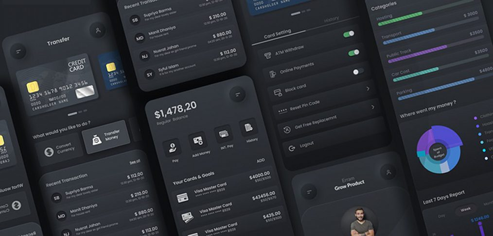 Currency converter Figma app template