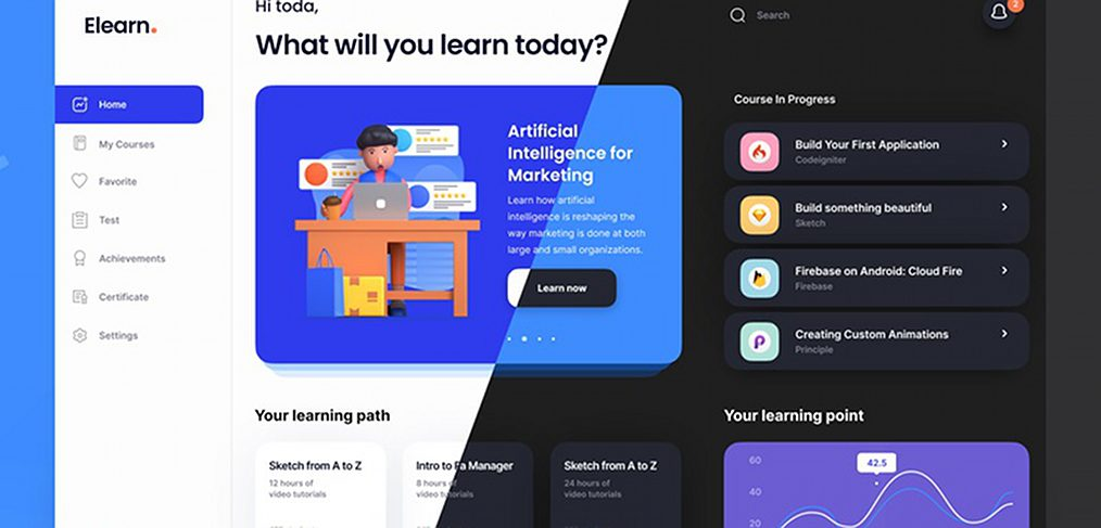 Figma e-learning dashboard template