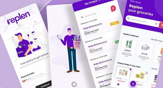 Groceries app Figma concept