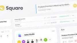 Square - Figma Premium Dashboard UI Kit