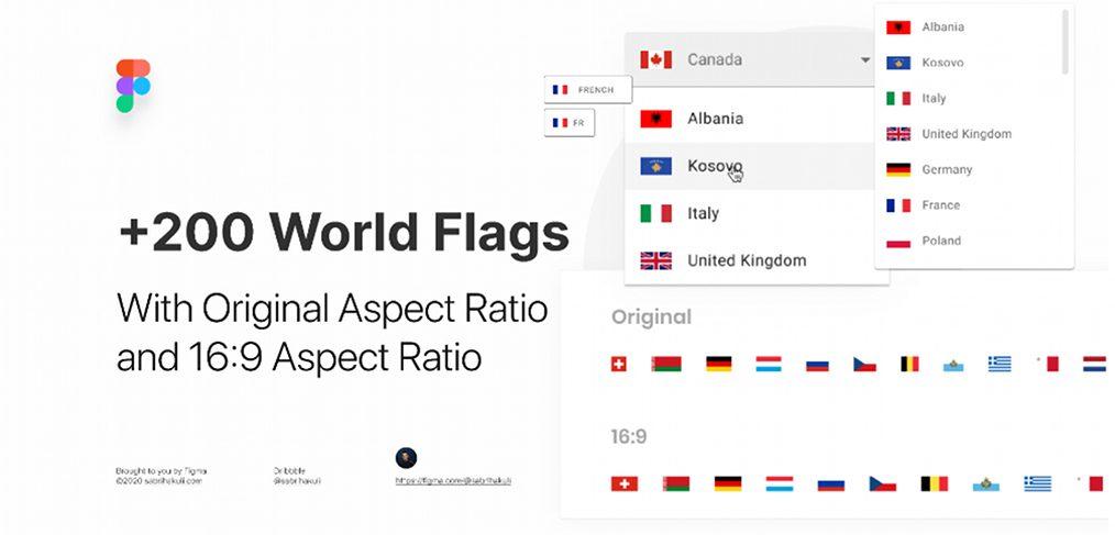 200 Free Figma World Flags
